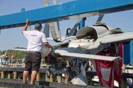 Raising a crashed airplane