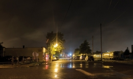 Downtown Riverhead at night
